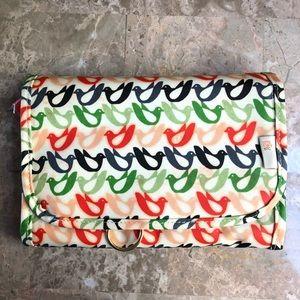 Orla Kiely Bird Print Hanging Valet Organizer Bag